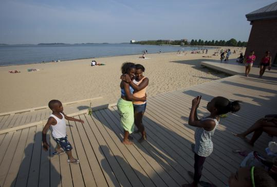 Jhameyka Delisme Left And Bianka Dona Said They Came To Carson Beach Because