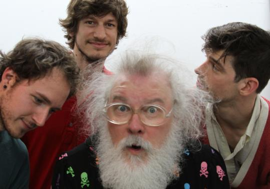 R. Stevie Moore (center) will be backed by Tropical Ooze when he performs at Church. He last appeared in Boston in 1984.