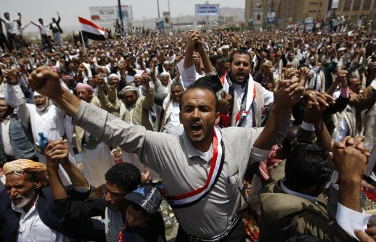 Yesterday, protesters called on the vice president — who is Yemen's acting leader — to allow the creation of a new government.