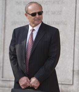 Salvatore DiMasi as he left the federal courthouse yesterday after closing arguments in his corruption trial.