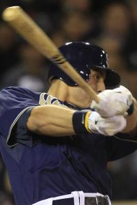 San Diego's Anthony Rizzo, who was traded by the Sox in the Adrian Gonzalez deal, triples in his major league debut.