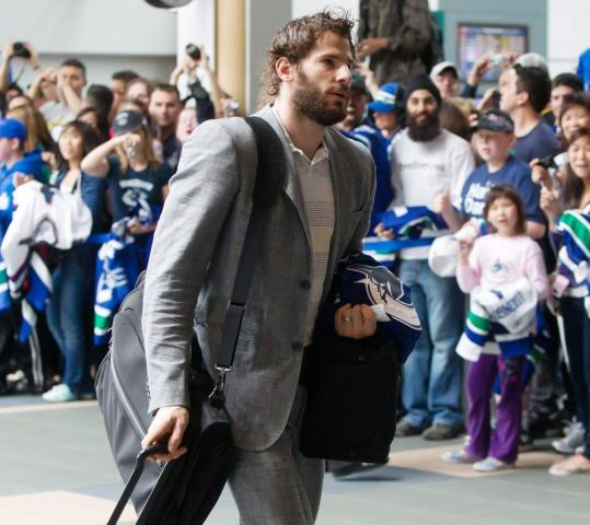 Ryan Kesler and his mates packed for Boston yesterday, and they hope to return to Vancouver with the Stanley Cup in tow.