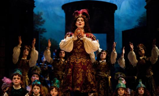 "French countertenor Philippe Jaroussky as King Anfione in ""Niobe,'' the centerpiece of the Boston Early Music Festival."