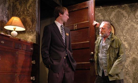 "Alex Pollock (left) as Mervyn and Gordon Joseph Weiss as Carmichael in the Wellfleet Harbor Actors Theater production of ""A Behanding in Spokane.''"