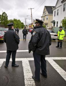It was the third time since November that an officer in Massachusetts had been shot.
