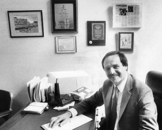 Salvatore DiMasi in his office in the early days of his career as a lawmaker.