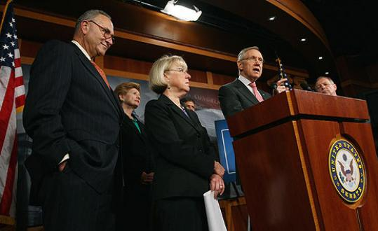 JOB CREATION — Senate Democrats held a press conference on job creation yesterday and announced the reintroduction of an economic development bill that was previously rejected by their Republican counterparts.