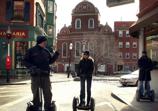 The Boston City Council has passed regulations that would prohibit all Segway tours from operating on public walkways, which would force the tours onto the streets.