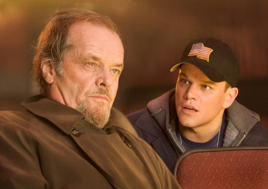 "Jack Nicholson (left) and Matt Damon starred in the 2006 film ""The Departed.''"