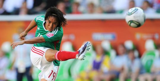 Monica Ocampo&#8217;s goal in the 33d minute helped Mexico tie England in their World Cup opener.