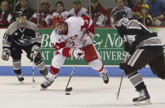 Boston University center Charlie Coyle turned in 26 points (7 goals, 19 assists) for the Terriers in his freshman season.