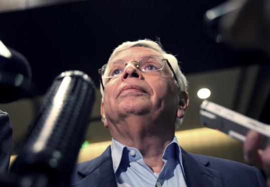 NBA commissioner David Stern, shown following an owners' meeting on Tuesday, clings to hopes of an agreement.