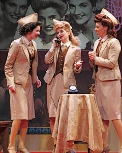"From left: Kimberly Robertson, Laura DeGiacomo, and Kerri Jill Garbis play the Andrews Sisters in ""Sisters of Swing'' at Stoneham Theatre."