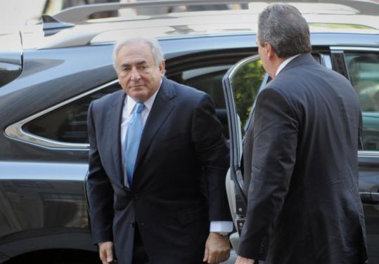 imf chief dominique strauss-kahn accuser. Dominique Strauss-Kahn arrived