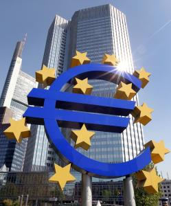 The euro symbol in front of the European Central Bank in Frankfurt. Euro zone finance ministers agreed to financing of $12.7 billion to help Greece function through the summer.