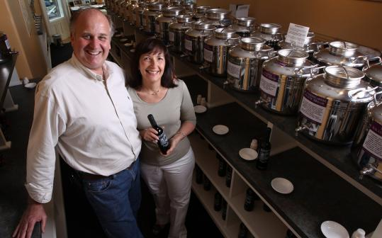 Patrick and Gail Vardaro spent years collecting different varieties of olive oil before opening Boston Olive Oil Co. last September.