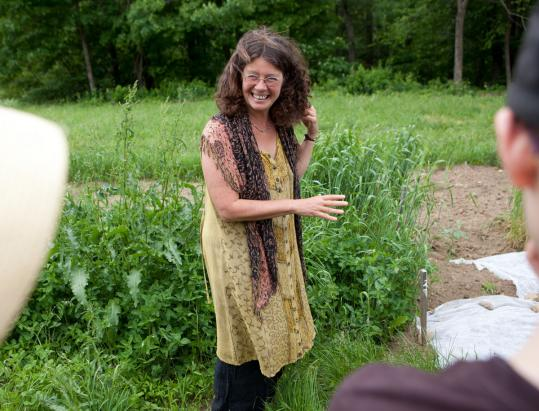 Eli Rogosa on her Colrain farm where she grows ancient grains of wheat.