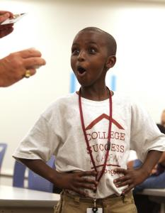 Abubakar Aden, 10, of Roxbury is a member of the inaugural class of the College Success Academy.