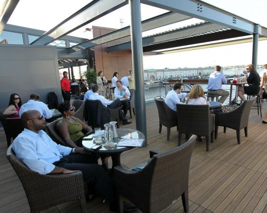 Legal Harborside offers multi-level dining, and a top floor with retractable roof and walls.