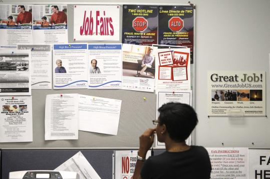 Applications for unemployment insurance have hit a 7-week low and small businesses plan more hiring, a trade association said.