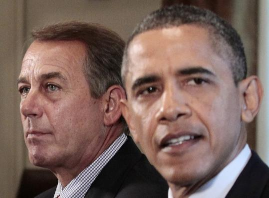 House Speaker John A. Boehner participated with other leaders in a meeting with President Obama yesterday.