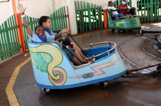 The Whip is a popular ride at Playland in Rye, N.Y.