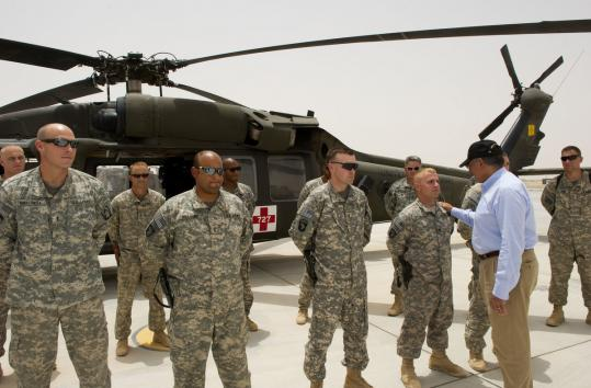 Secretary of Defense Leon Panetta visited Afghanistan yesterday before making an unannounced trip to Iraq.