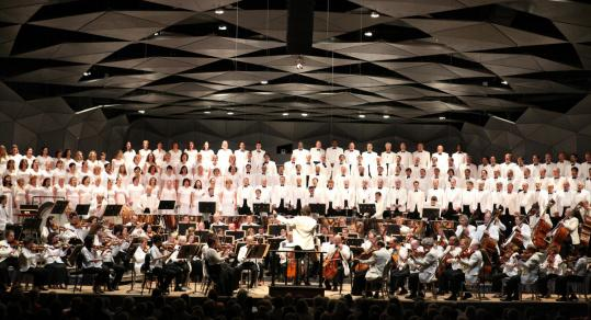 Charles Dutoit leading the BSO and Tanglewood Festival Chorus in Berlioz's Requiem on Saturday night.