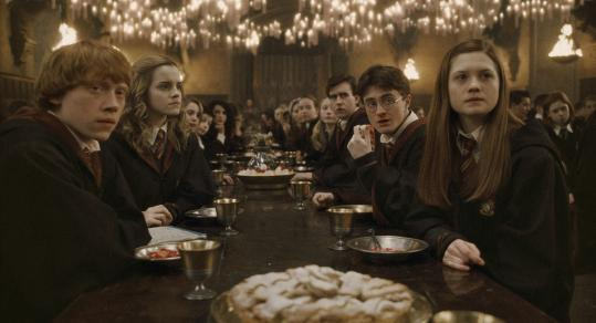 "The dining hall at Hogwarts (here in a scene from ""Harry Potter and the Half-Blood Prince'') is the setting for many feasts at the wizarding school."