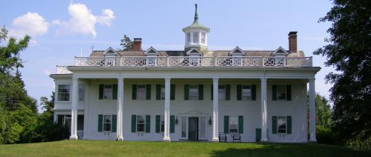 The 1903 Emery mansion in Weymouth Heights was designed to look like George Washington's Mount Vernon.