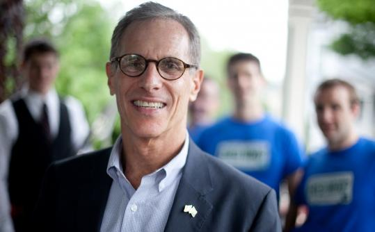 Campaigning in New Hampshire, Fred Karger has mixed political gatherings with gay-pride events. Karger favors abortion rights and gay marriage but quotes Ronald Reagan.
