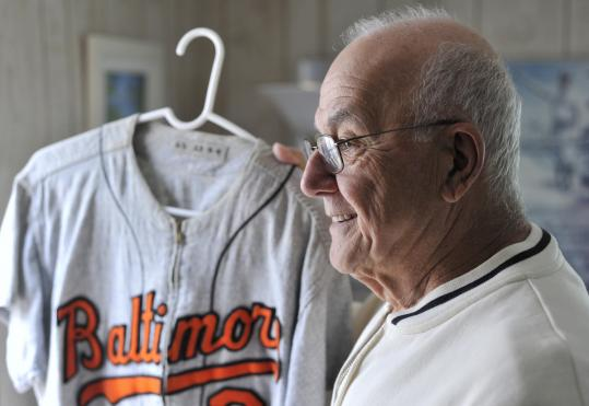 Angelo Dagres played his first game for the Orioles on Sept. 11, 1955, the same day he signed his contract.