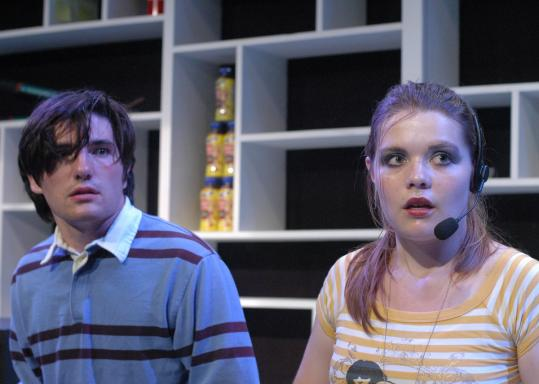 """From left: Dustin Teuber, India Choquette, and Cody Beltis portray suburban teens drawn into a lethal video game in """"Neighborhood 3: Requisition of Doom.''"""