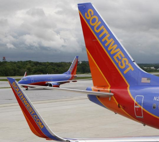 Southwest was the only airline to receive top marks cabin service.