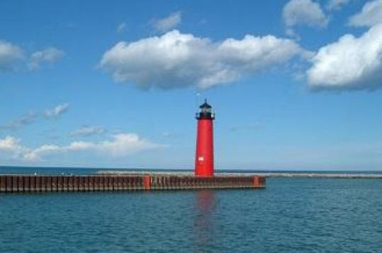 The Kenosha North Pierhead Lighthouse on Lake Michigan in Wisconsin was among dozens of lighthouses the United States put up for sale after the Coast Guard decommissioned them.