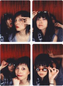 Cibo Matto: Yuka Honda and Miho Hatori (with CM sunglasses) are working on new music and plan to release an album early next year.