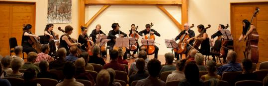 "An ensemble of 11 cellos and a double bass performed Brett Dean's ""Twelve Angry Men'' last Thursday."