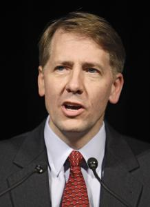 Richard Cordray heads the enforcement division at the agency and currently reports to Elizabeth Warren. He gained fame for his investigations of mortgage foreclosure practices.