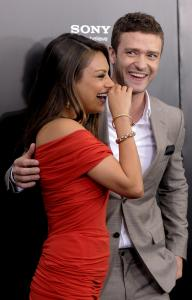 "Mila Kunis and Justin Timberlake at the premiere of ""Friends With Benefits'' Monday in New York."