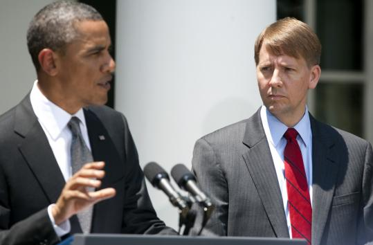 President Obama with Richard Cordray, his nominee to head the new Consumer Financial Protection Bureau.