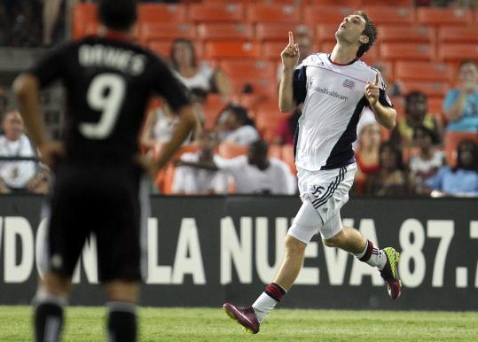 Stephen McCarthy's goal in the 73d minute helped the Revolution beat D.C. United for their first road win.
