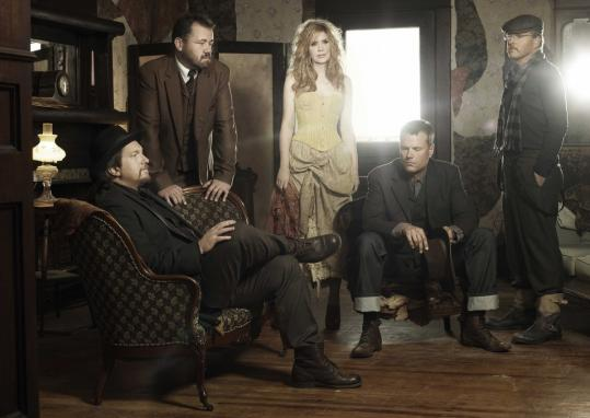 "Alison Krauss and Union Station - (from left) Jerry Douglas, Dan Tyminski, Barry Bales, and Ron Block - recently released the new album ""Paper Airplane.''"