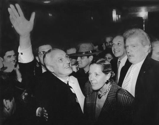 Bruce Sundlun was cheered by supporters after he defeated the incumbent governor, Edward DiPrete, in 1990. Mr. Sundlun reflected on his two terms at the top in 1994 (below).