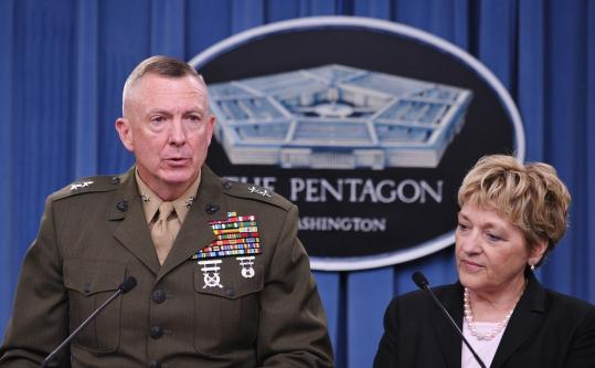 """Major General Steven Hummer and Deputy Assistant Secretary of Defense for Military Personnel Policy Virginia Penrod discussed the repeal of """"don't ask, don't tell'' yesterday."""