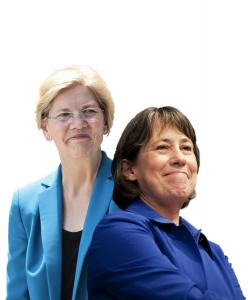 Elizabeth Warren, left, and Sheila Bair.