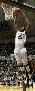 JaJuan Johnson's development shifted to a fast track at Purdue, where he was a first team All-American as a senior.