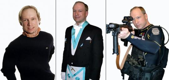 "Anders Behring Breivik, shown in online images, thinks his ""actions were atrocious, but . . . necessary,'' his lawyer said."
