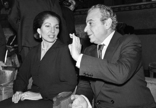 Michael Cacoyannis, talking to soprano Maria Callas in 1975, won many awards and worked with well-known actors.