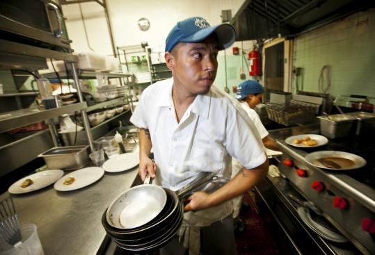 Carl Marroquin, A Line Cook At Highland Kitchen In Somerville, Looks For  Whatu0027s Playing
