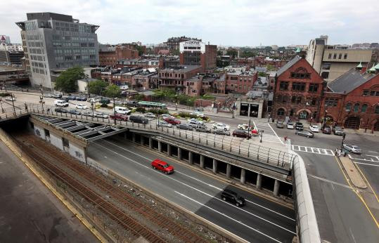 Parcel 15 is on Boylston Street over the Massachusetts Turnpike. Projects that were shelved for the economic recession have been reopened.